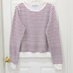 Wildfox Striped Baggy Beach Pullover Sweater sz S